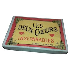 French Miniature Metal Puzzle - 'Two Inseparable Hearts' - circa 1910