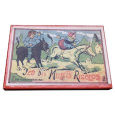 French Boxed Puzzle circa 1910 – 'Funny Mules'