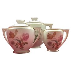 French Art Deco Porcelain Coffee Set