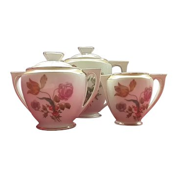 French Art Deco Porcelain Coffee Set