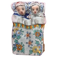 Limoges Porcelain Trinket Box - Medieval Couple in Bed - Free Shipping
