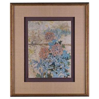 """VIntage Decoration Original Watercolor """"Still Life"""""""