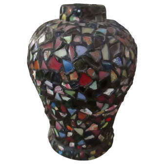 Mosaic vase, a real beauty and quite well executed.  1920's vintage in great original condition