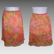 Floral Half Skirt Slip Lingerie Undergarments