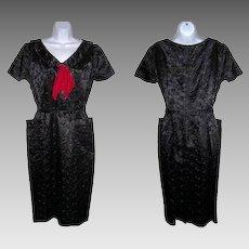 Size 13 / 14 Dress Black Silk Sailor Pin Up