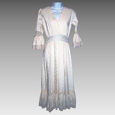 Size Medium Dress Maxi Boho Crocheted Lace Wedding