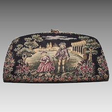 French Tapestry Clutch Oversized Wallet Baronet Purse