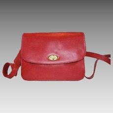 Coach Purse Italian Red Leather