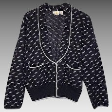 Women's Size 12 Cardigan Sweater Black