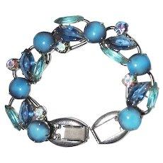 Juliana Bracelet Blue Smoke AB Rhinestone Jewelry