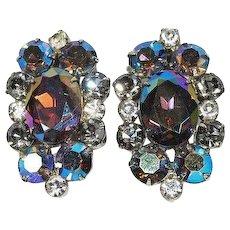 Juliana Rhinestone Earrings AB Heliotrope Lavender