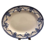 Beautiful Blue and White Transferware Meat Platter - Made in England