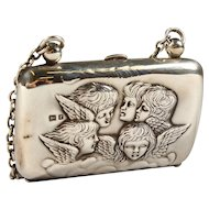 Ladies Silver Purse, Reynold's Angels, Cherubs Birmingham 1905
