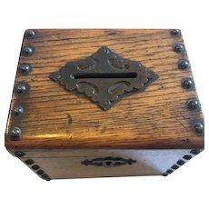 Tiger Oak Money Box