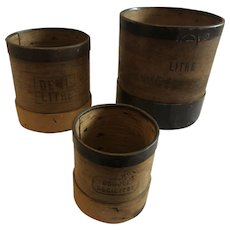 Bentwood Measures with Steel Bands - Set of 3