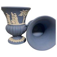 Pair of Wedgwood Jasperware Bud Vases - Made in England