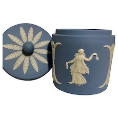Wedgwood Jasperware Pot with Lid - Made in England