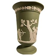 Beautiful Green Wedgwood Jasperware Vase - Made in England