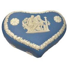 2 Wedgwood Jasperware Heart Pots w/Lids - Made in England - Valentine's Day