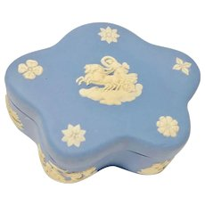 Wedgwood Scalloped/Floral lidded Pot & Bell - Made in England