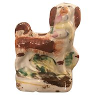 19th Century Minature Staffordshire Dog w/ Game in Mouth - Hunt
