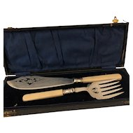 SilverPlate Fish Serving Cased Set - Made in England