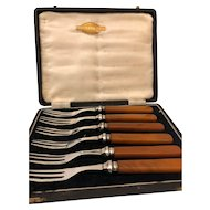 SilverPlate Cased Fork Set - Silbira Made In Sheffield England - Set of 6