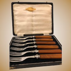 SilverPlate Cased Fork Set - Silbira Made In Sheffield England - Set of 6