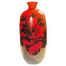 Royal Doulton Flambe Woodcut Vase - Stag / Deer - Made in England