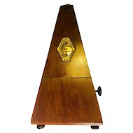 Late 19th Century Mahogany-Cased Metronome - Maelzel - Made in Paris, France
