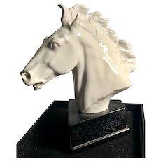 Meissen White Horse Head - Erich Oehme - England- Racehorse Statue