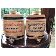 Miniature Kegs by Wade - Port, Gin, Scotch, Sherry - Made in England