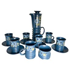 16 Pc English Coffee Tea set of Carlton Ware - Mint Condition - Blue Floral