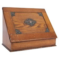 19th Century Victorian Desk Tidy Stationary Box - Made in England