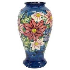 Moorcroft Collectors Club Large Floral Vase - Signed & Dated