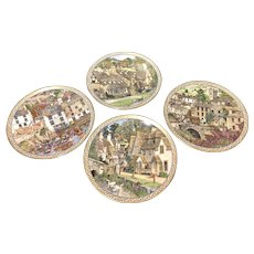 Royal Worcester by Sue Scullard - 4 Villages Cabinet Collector Plates