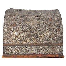 Early 20th Century Edwardian Desk/Stationary Tidy - Rococo Silver Scrollwork