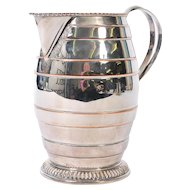 19th Century Silver Plated  with Copper Accents Water jug - England