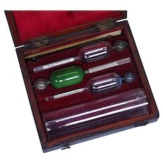 Antique Boxed English Sikes Hydrometer