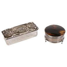 2 George IV Dressing Table Boxes - Birmingham - Made in England
