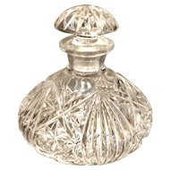 Vintage Glass Vanity Perfume Bottle - English
