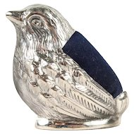 Beautiful Tubby Sterling Silver Bird Pin Cushion - Hallmarked - Made in England