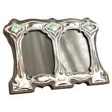 Vintage Art Nouveau Double Frame - Sterling Silver