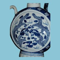 Vintage ca 1960+ Chinese Blue Dragons Teapot