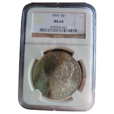 1896 Morgan Silver Dollar NGC MS-64