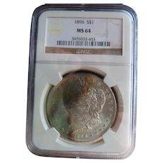 1896 Morgan Silver Dollar NGC MS-64