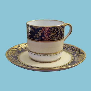 c. 1891 - 1905 Spode Copeland  Demi-tasse Gilded Cup and Saucer