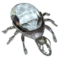Large Crystal Bug Paperweight
