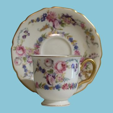 Vintage Rosenthal Dainty Demitasse Cup and Saucer
