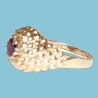 Vintage 14K Garnet Ring